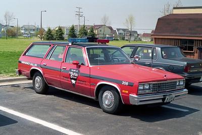 BUFFALO GROVE FD  CAR 208  1984  CHEVY MALIBU WAGON