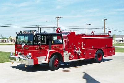 BUFFALO GROVE FD  ENGINE 212  1974  HENDRICKSON - HOWE   1250-1000   # 14238-H