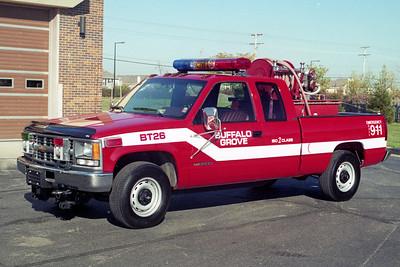 BUFFALO GROVE FD  SQUAD 249  1994  GMC 2500 4X4 - 1989  WAJAX   30-200