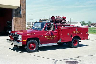 BUFFALO GROVE FD  SQUAD 248  1982  GMC - INDIANA FIRE APPARATUS   250-250