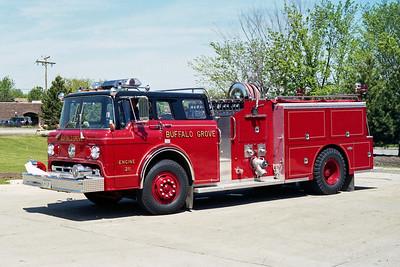 BUFFALO GROVE FD  ENGINE 211  1985  FORD C8000 - PIRSCH   1250-500   # PQ-58