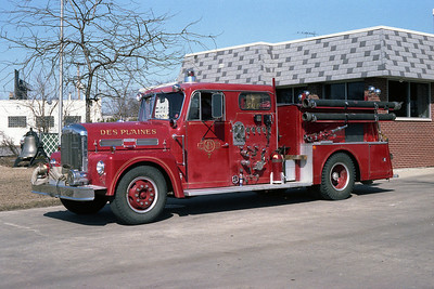DES PLAINES FD ENGINE 67 WARD LaFRANCE