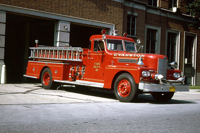 EVANSTON ENGINE 21  1968 PIRSCH  1000-  OFFICERS SIDE
