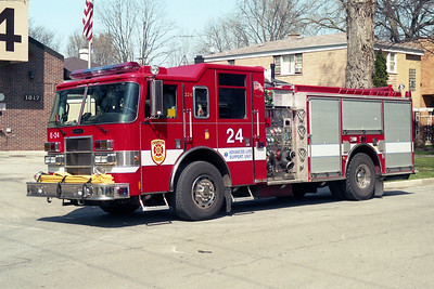 EVANSTON ENGINE 24  2003 PIERCE DASH  1500-500