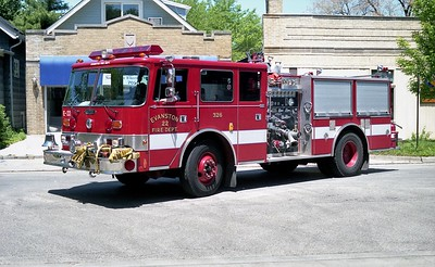 EVANSTON FD  ENGINE 22  PIERCE ARROW
