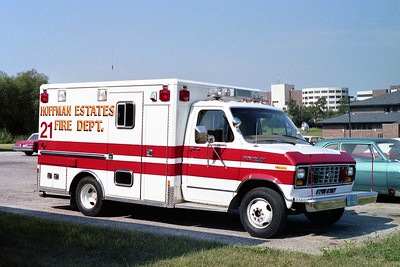 HOFFMAN ESTATES  AMBULANCE 21  1978 FORD E350 - HORTON