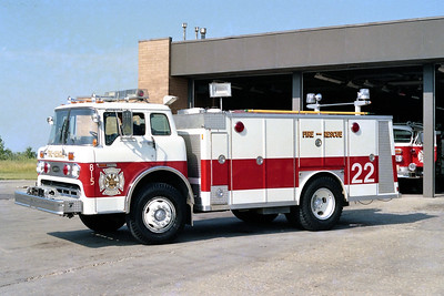 HOFFMAN ESTATES  SQUAD 22  1978 FORD C8000 - E0ONE  400-400   #619