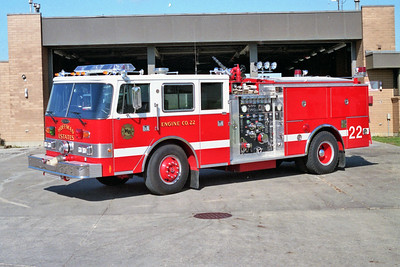 HOFFMAN ESTATES  ENGINE 22   1988 PIERCE ARROW  1250-500    E-4298