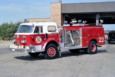 HOFFMAN ESTATES ENGINE 22  1971 ALFCO   1500-500  # 12-1-2329