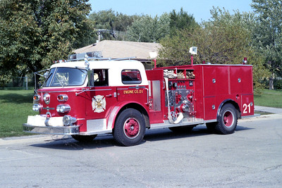 HOFFMAN ESTATES  ENGINE 21  1968 ALFCO 900   1250-500