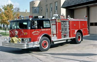 MORTON GROVE FD  ENGINE 4  1980  HENDRICKSON - E-ONE   1500-500   #1694
