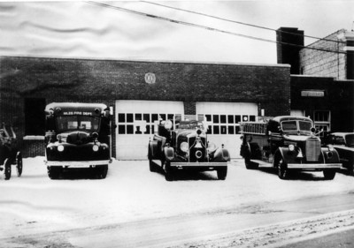 NILES FD  ORIGINAL STATION  UNKNOWN YEAR OR LOCATION   JEFF SCHIELKE COLLECTION  BF