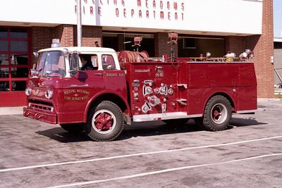 ROLLING MEADOWS FD  SQUAD 640  1958  FORD C - ALFCO   750-500