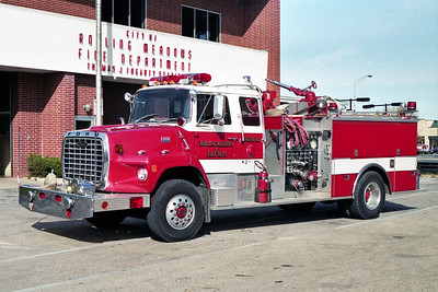 ROLLING MEADOWS FD  ENGINE 612  1979  FORD L9000 - PIERCE   1250-500   7343-D   REPAINTED