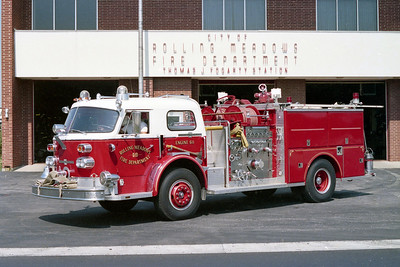 ROLLING MEADOES FD  ENGINE 611  1970  ALFCO   1500-500    1982 3-D REHAB   #2130