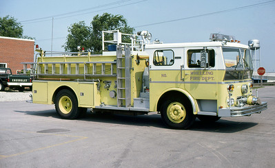 WHEELING FD  ENGINE  WLF P80   COMMAND TOWER  OFFICERS SIDE