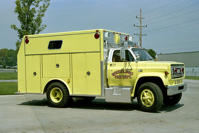 WHEELING FD  SQUAD 686  1983  CHEVY - MARION