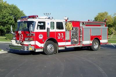 WHEELING FD  ENGINE 23  1992 SUTPHEN   1500-750   HS-2705   REPAINTED