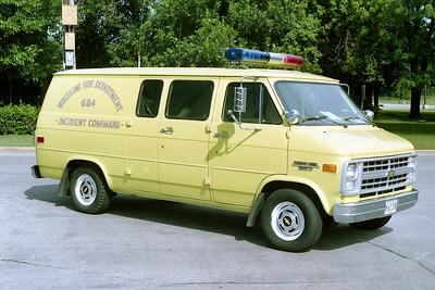 WHEELING FD  CAR 2401  1987  CHEVY VAN 20
