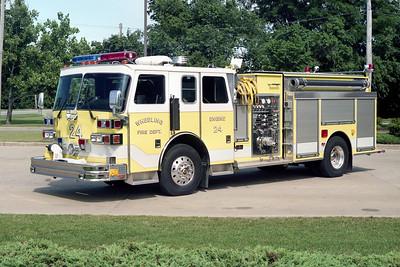 WHEELING FD  ENGINE 24  1992  SUTPHEN   1500-750-10A-50B   HS-2660