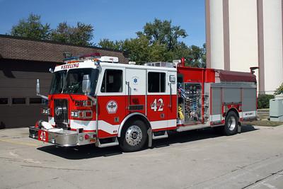 WHEELING FD  ENGINE 42  2000  SUTPHEN   1500-750-30A-60B   HS-3440