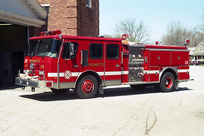 WILMETTE FD  ENG 26  1989 E-ONE CYCLONE 1250-500  BF