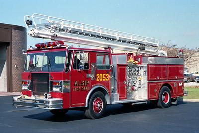 ALSIP FD  ENGINE 2053  1987  SPARTAN - GRUMMAN   1500-500-50' TSQT   #17354