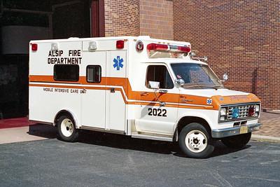 ALSIP FD  AMBULANCE 2022  1996  FORD E-350 - McCOY MILLER