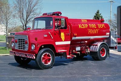 ALSIP FD  FOAM TRUCK 2006  1978  FORD L - PRESS TANK   0-2000 FOAM