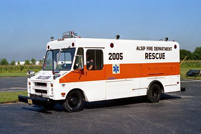 ALSIP FD  RESCUE 2005  1972  CHEVY - STEPVAN