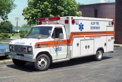 ALSIP FD  AMBULANCE 2002  FORD E350 - McCOY MILLER