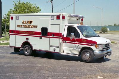 ALSIP FD  AMBULANCE 2012  1999  FORD E-350- 2003  ROAD RESCUE   #3534