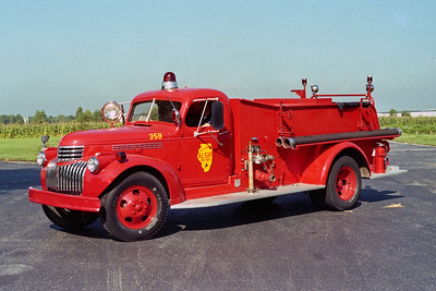 ALSIP FD  ENGINE 358  1947  CHEVY - CENTRAL   500-300
