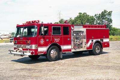 BEDFORD PARK FD  ENGINE 707  1988  PIERCE ARROW   1500-500   E-4464