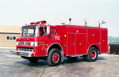BEDFORD PARK FD  SQUAD 702  1976  FORD C - PIERCE