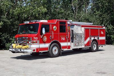 BEDFORD PARK FD  ENGINE 710  2010  PIERCE IMPEL   1500-750   # 22778
