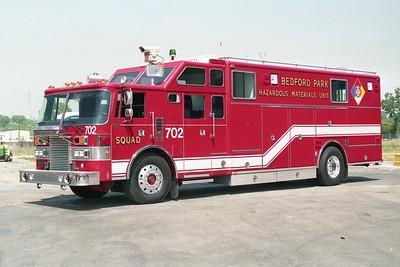 BEDFORD PARK FD  SQUAD 702  1991  PIERCE LANCE   E-6644
