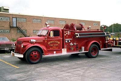 BRIDGEVIEW FD  ENGINE 403  1946  CHEVY - DARLEY   500-250