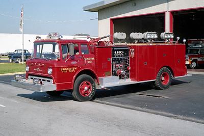 BRIDGEVIEW FD  ENGINE 410  1968  FORD C - DARLEY   1000-500