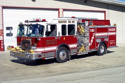 BRIDGEVIEW FD  ENGINE 405  2003  SPARTAN METRO STAR - CRIMSON   1500-500   # 114744