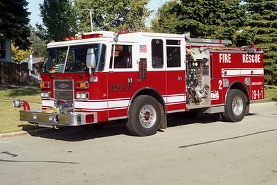 BRIDGEVIEW FD  ENGINE 425  1993  PIERCE DASH   1250-750
