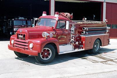 BRIDGEVIEW FD  ENGINE 416  1958  IHC R190 - HOWE   750-500