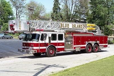 BLUE ISLAND FD  TRUCK 2104  1997  E-ONE  HURRICANE   1500-300-95' TL