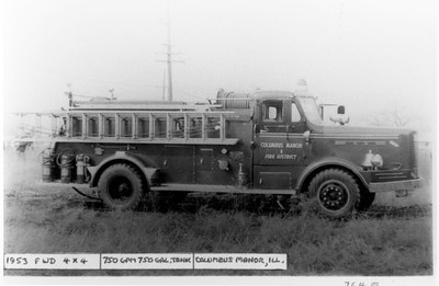 COLUMBUS MANOR ENGINE 1953 FWD 4X4  750-750 OFFICERS SIDE