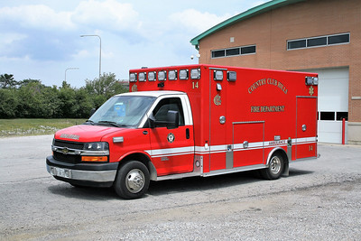 COUNTRY CLUB HILLS  AMBULANCE 14  CHEVY -