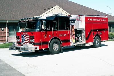 CRESTWOOD  ENGINE 2313  2005 PIERCE DASH  1500-750