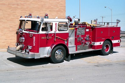 CRESTWOOD  ENGINE 2303  1971 SEAGRAVE 1250-500   WHITE ROOF