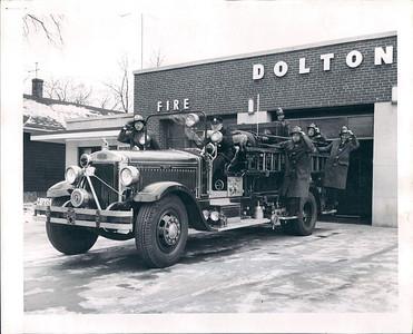 DOLTON FIREMAN LEAVE THE STATION  1-03-1957