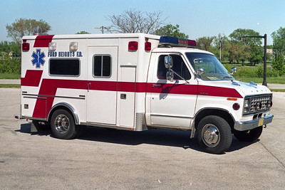 FORD HEIGHTS AMBULANCE 2007  1995 FORD E-350 - MARQUE  BF