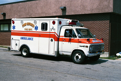 FORD HEIGHTS FD  AMBULANCE 206  1980 CHEVY - HORTON  BF